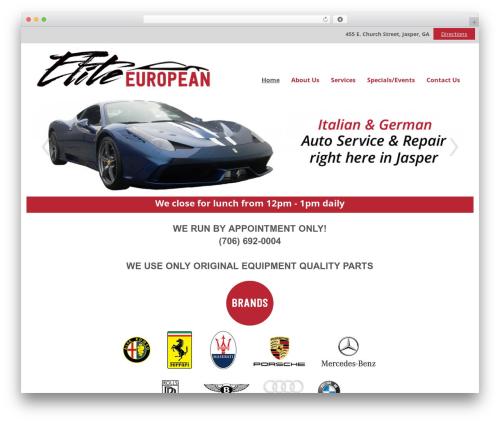 WordPress website template Elite - eliteeuropean.net