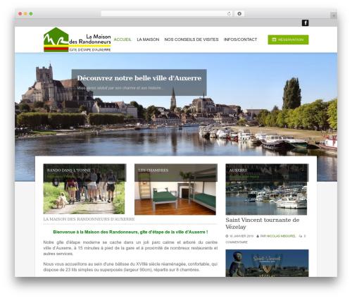 Hotec WordPress website template - maison-rando.fr