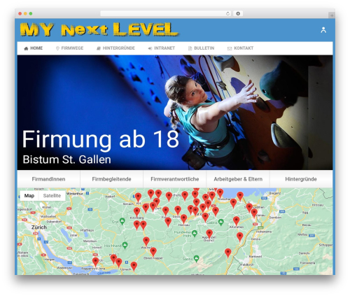 Jupiter WordPress page template - my-next-level.ch