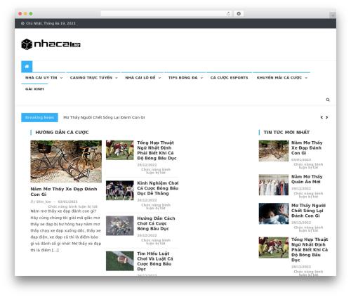 News Vibrant WordPress news theme - nhacai.biz