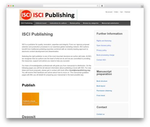 Responsive free website theme - iscipublishing.org