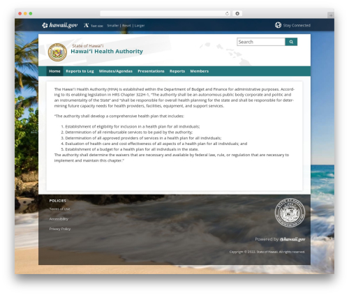 State child Template WP theme - hha.hawaii.gov