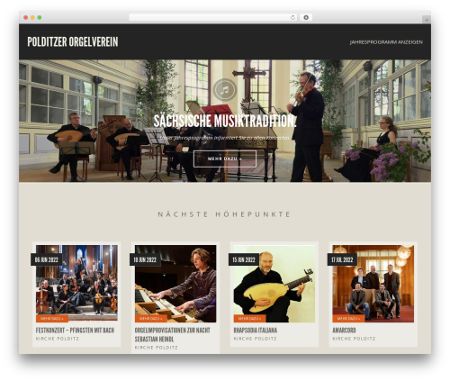 WordPress theme Berliner - orgelverein-polditz.de