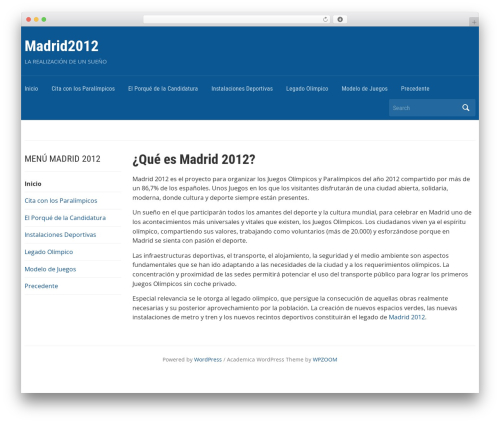 Academica WordPress theme - madrid2012.es