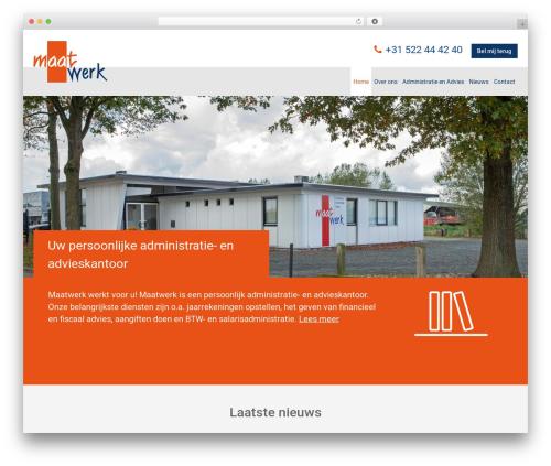 Aquila WordPress page template - maatwerker.nl