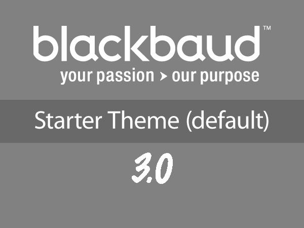 BBPress - Starter Theme (Blackbaud-Wordpress) WordPress website template