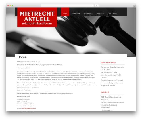 Best WordPress template Fine Pro - mietrechtaktuell.com
