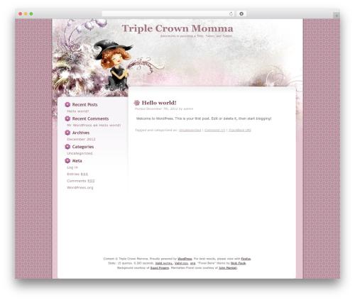 Best WordPress template Floral Belle - triplecrownmomma.com