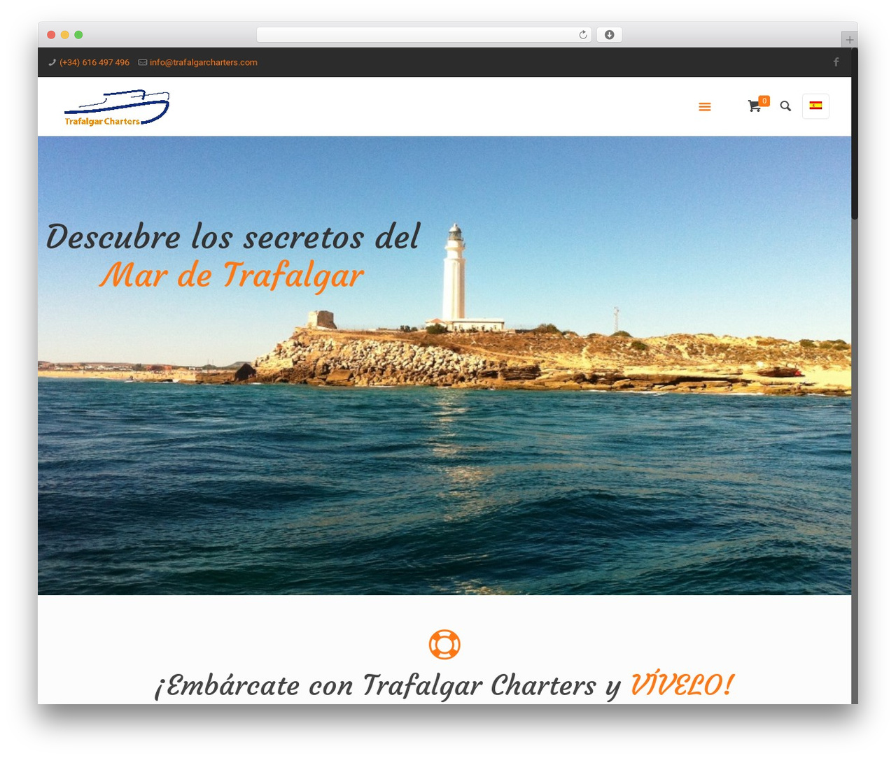 Betheme WordPress page template - trafalgarcharters.com