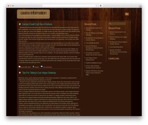 Dark Wood WP theme - topcasinocomps.com