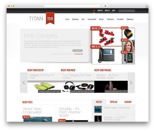 Delicate News WordPress magazine theme - titan-tech.net