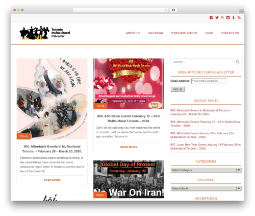 Eminent theme WordPress - torontomulticulturalcalendar.com