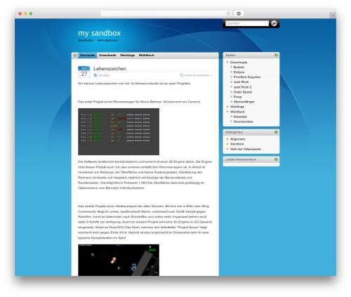iTheme WordPress theme - tim.barkenberg.net