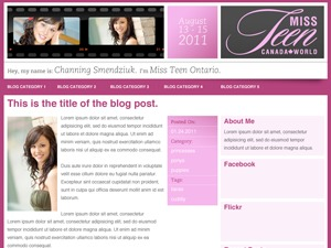 Miss Teen template WordPress