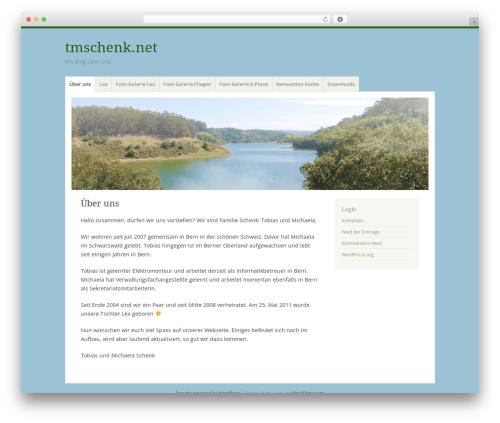 Misty Lake WordPress theme - tmschenk.net