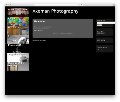 Picture Perfect WordPress template for photographers - the-axeman.net