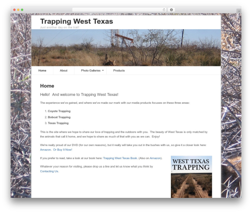 Pro Framework WordPress theme design - trappingwesttexas.com
