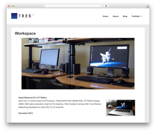 Responsive free website theme - trekcubed.com