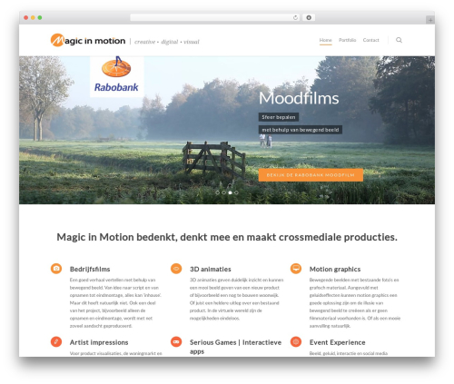 Salient best WordPress template - magicinmotion.nl
