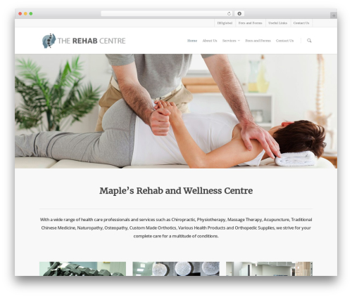 Salient template WordPress - trcmaple.com