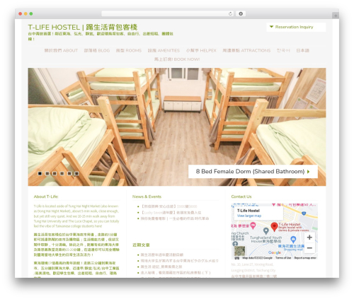 Stay WordPress theme - tlifehostel.com