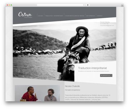 Theme WordPress Crown - traduction-tibetain.com