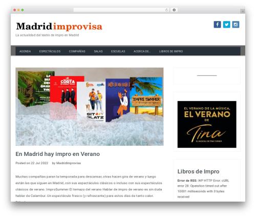 Travelers free WordPress theme - madridimprovisa.com