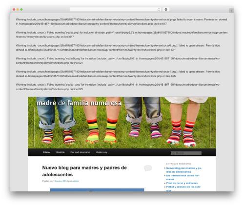 Twenty Eleven WordPress theme - madredefamilianumerosa.com