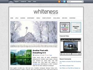 Whiteness WordPress blog template