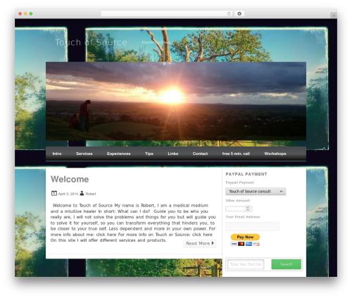 WordPress theme Isquar - touchofsource.com