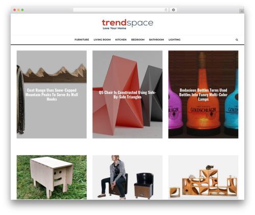 WordPress theme Zeen - trendspace.com