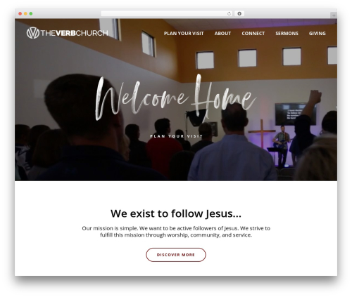 WordPress website template Jupiter - theverb.church
