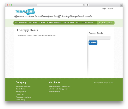 WP template Blank Child Theme - therapydeals.co.uk