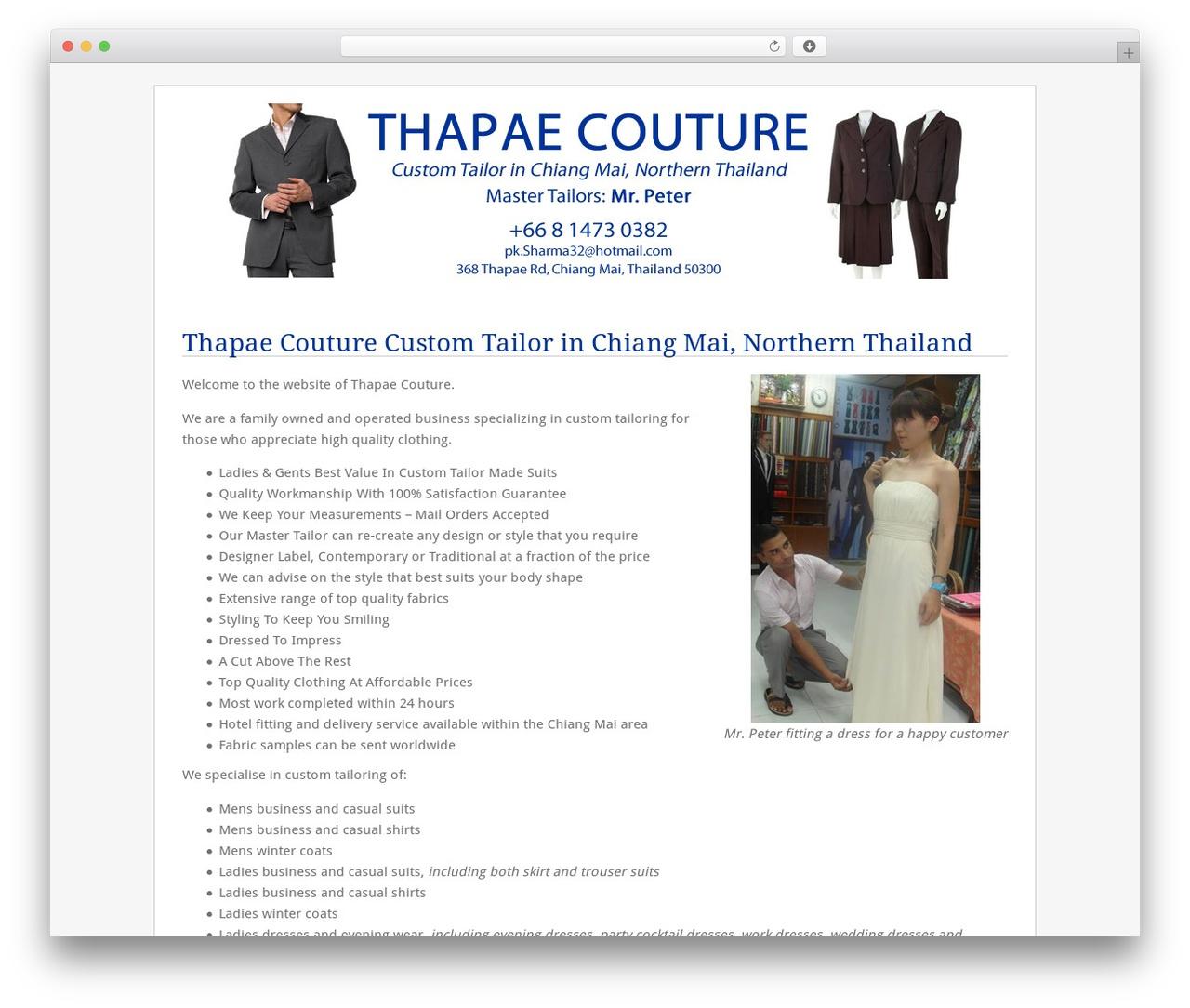 WP template Fresh And Clean - thapaecouture.com