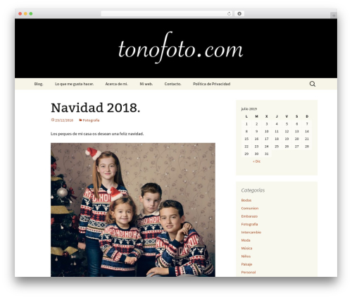 WP theme Twenty Thirteen - tonofoto.com