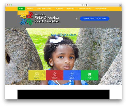 Children Charity WordPress page template - sffapa.org