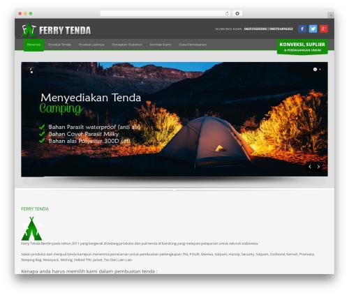 Kallyas WordPress theme design - ferrytenda.net