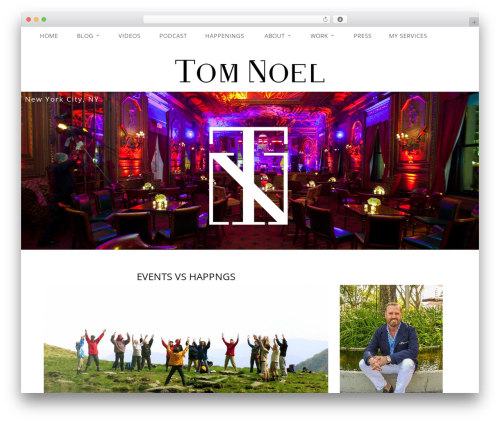 Satine WordPress page template - tomnoel.events