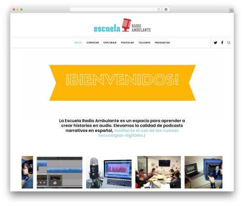 WordPress template Movedo - escuelaradioambulante.org