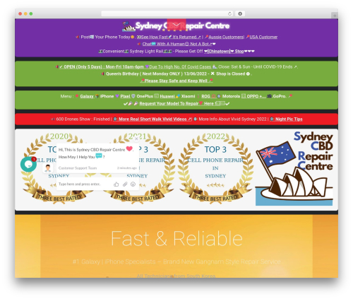 WordPress template Themify Fullpane - sydneycbd.repair