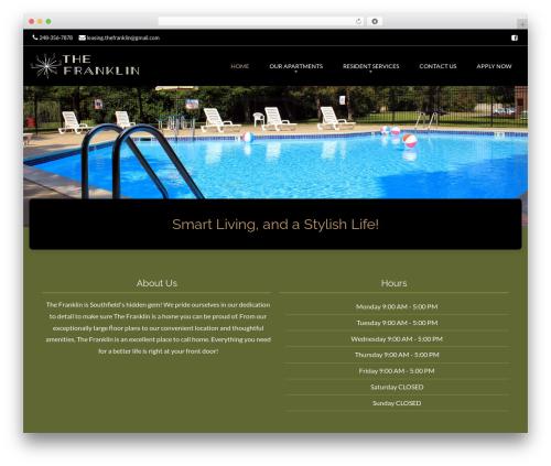 Brasserie Pro WordPress template - thefranklin.info