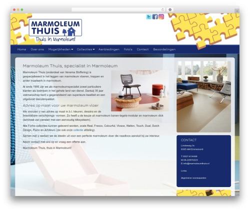 Dynamik-Gen theme WordPress - marmoleumthuis.nl