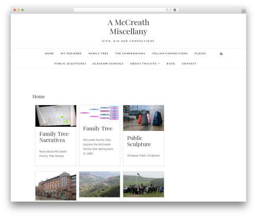 Edge free WordPress theme - mccreathfamily.scot
