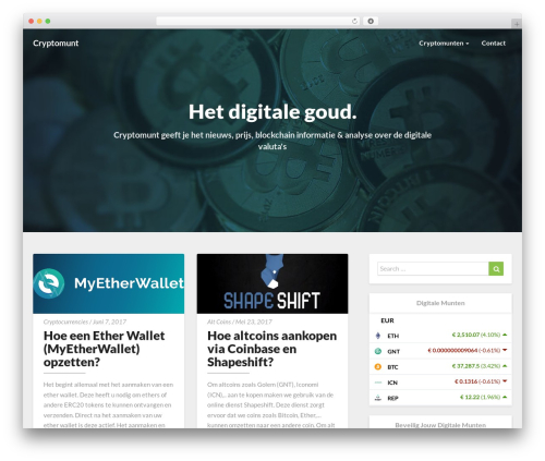 Magazine newspaper WordPress theme - cryptomunt.info