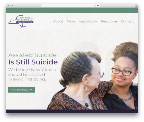 Page Builder Framework WordPress page template - nosuicideny.org