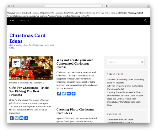 Sense WordPress theme - christmascardideas.org