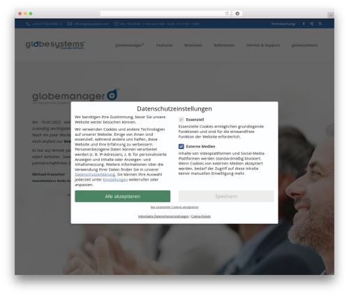 The7 company WordPress theme - globesystems.net