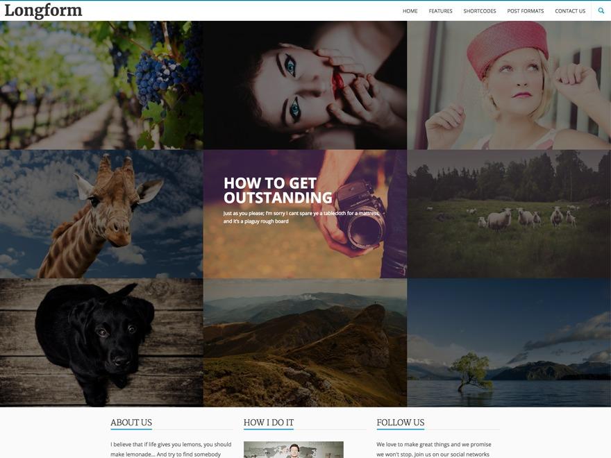 WordPress theme LongformPRO