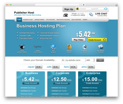 Best WordPress template Simply Elegant - pub-host.biz