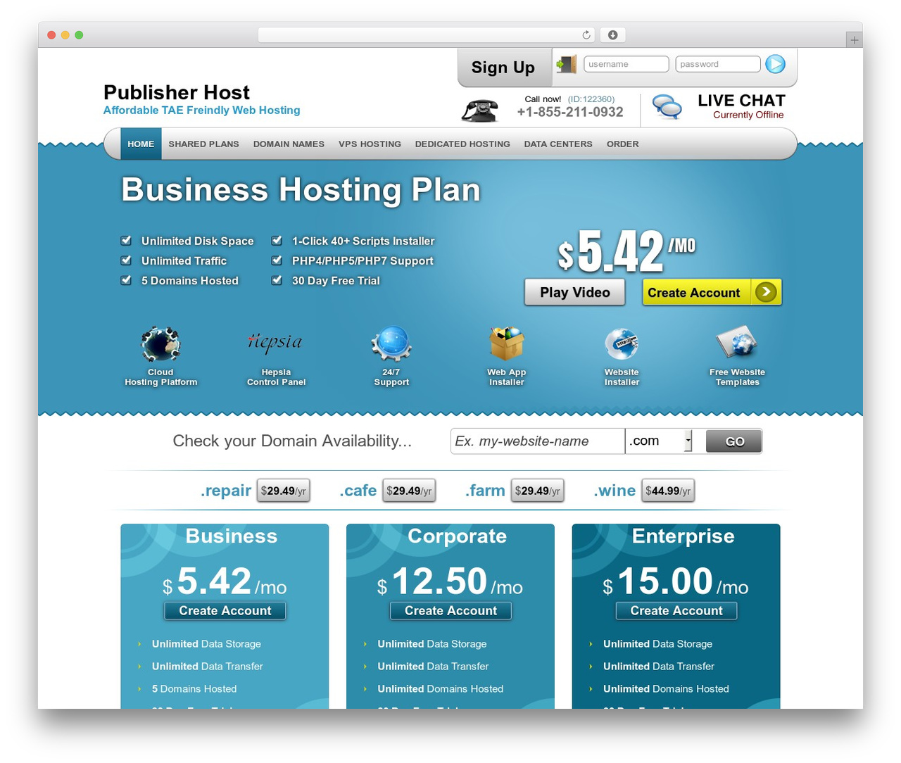 Best WordPress template Simply Elegant - pub-host.biz